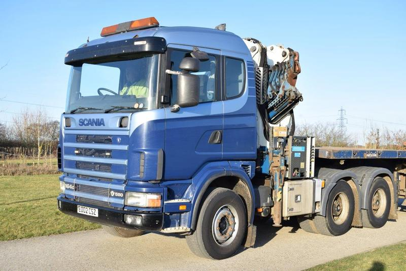 MISC-AG Scania 164c C/w Cormach 34t 16.5m Crane & Nooteboom Trailer
